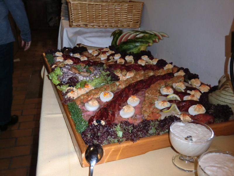 FLusskrebse, Garnelenschwänze und andere Meeresfrüchte