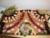 Räucherfische, Krustentieren und Meerestiere, appetitilich angerichtet.