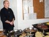 Die warmen Speisen - Vom Chef selbst serviert
